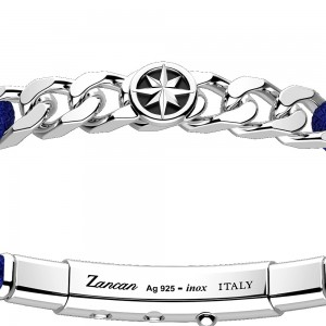 silver bracelet and aviation blue kevlar