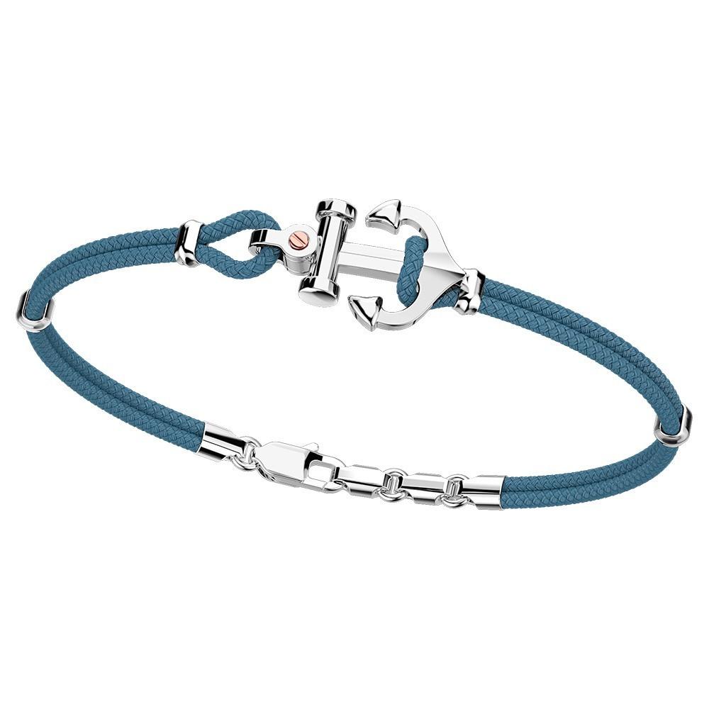 Silver bracelet with kevlar