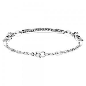 silver bracelet and ceramic