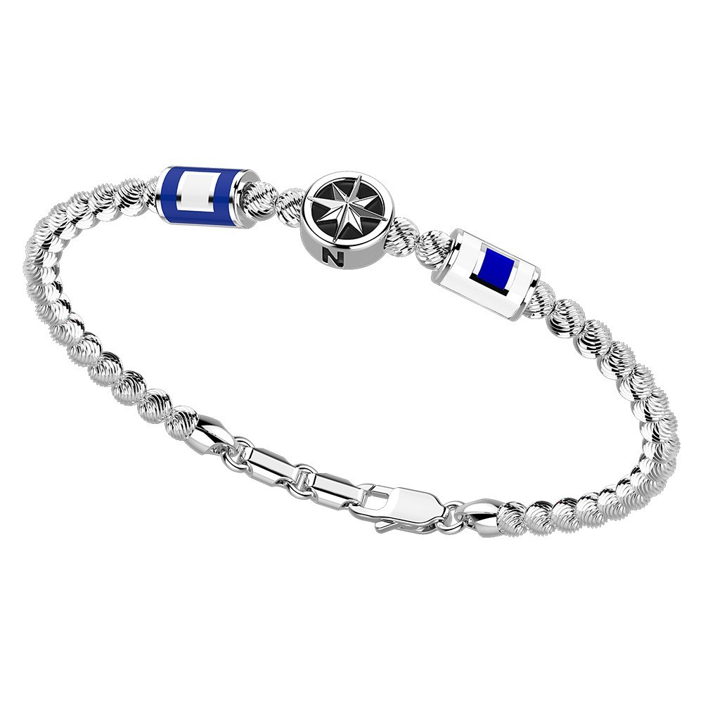 Silver Bracelet with enamelled details