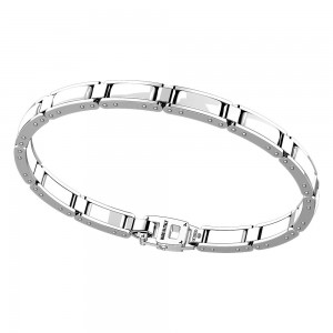 Silver and black ceramic bracelt