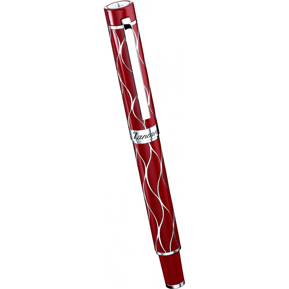 Pen in red lucid resin