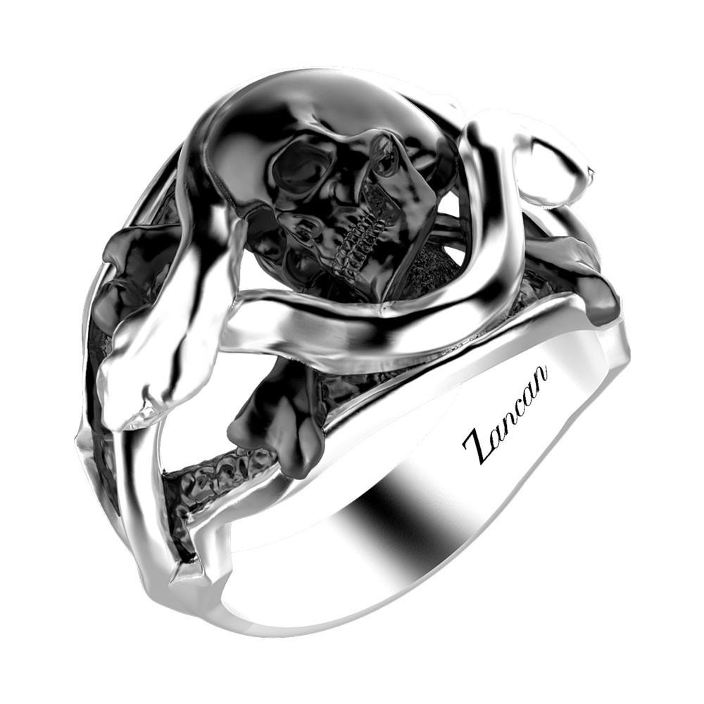 materiali superiori sito autorizzato promozione speciale Anello in argento con teschio.
