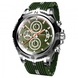 Superkompass - Cronografo verde con datario.