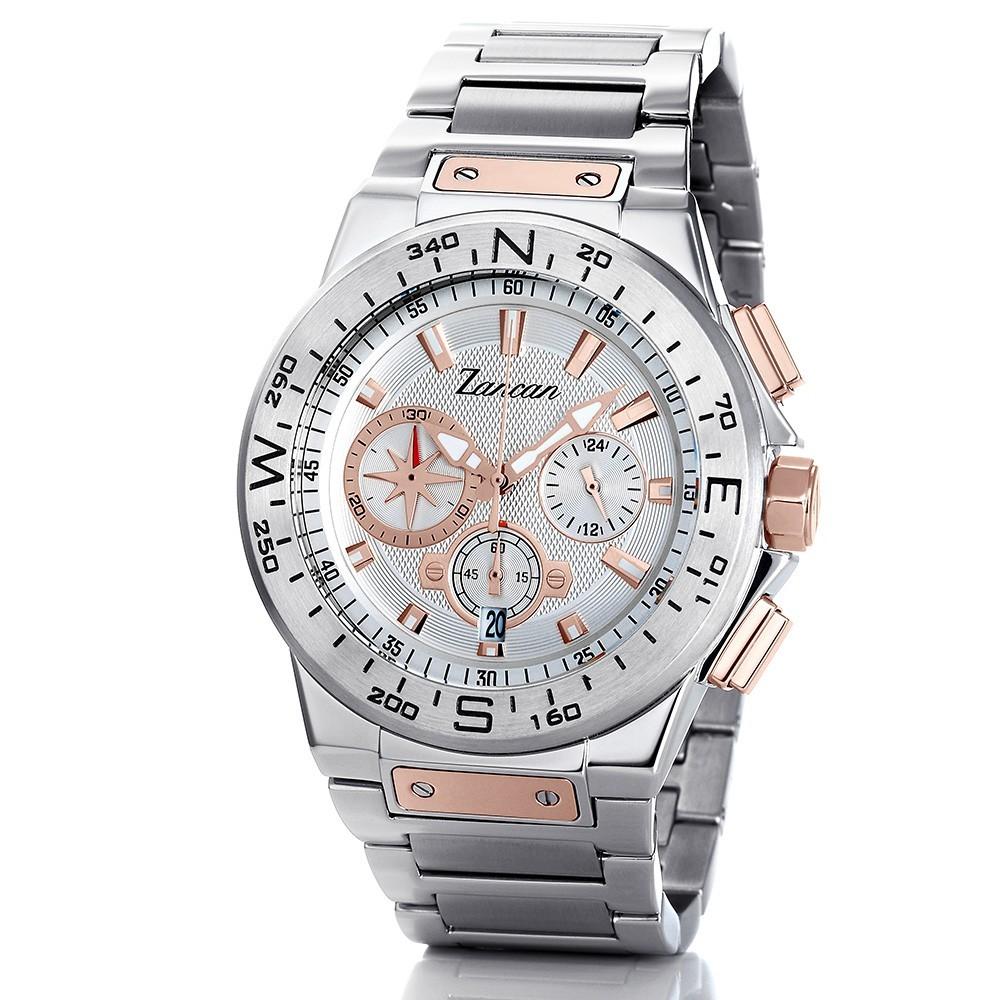 Kompascrono – Men's chronograph watch with calendar