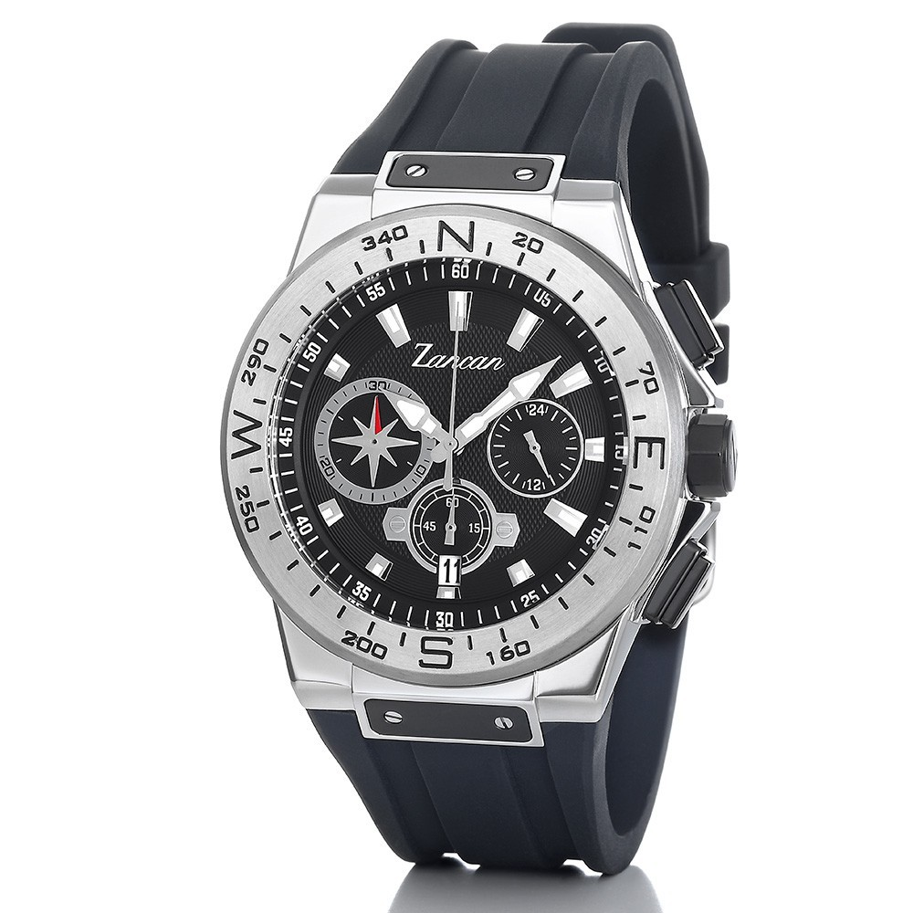 Kompascrono – Men's chronograph watch with calendar