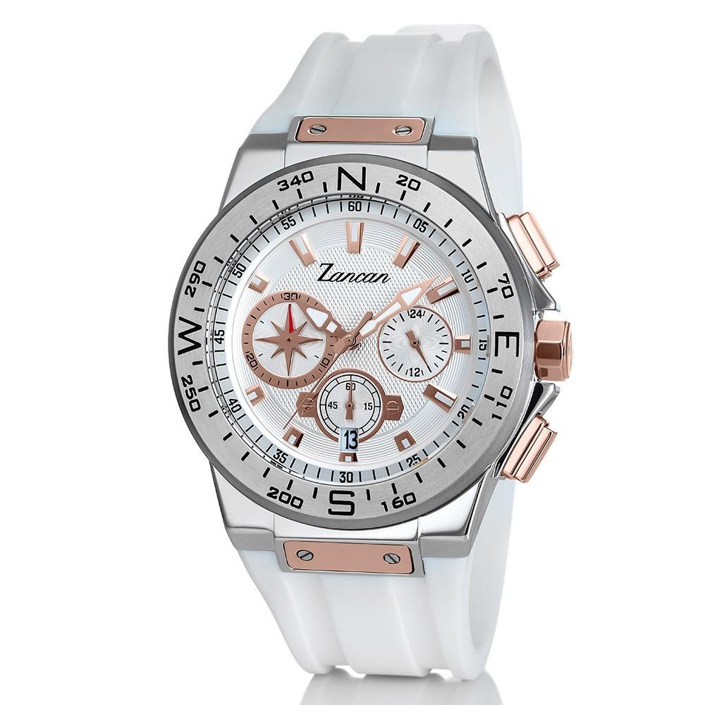 a basso prezzo 62a02 e2ca1 Kompasscrono - Orologio cronografo da uomo bianco e rosa.