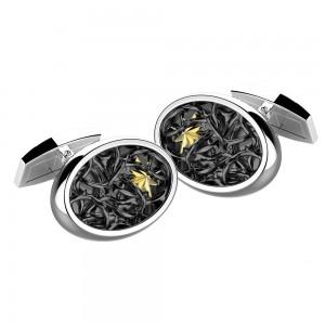 Gemelli in argento ovali con stella