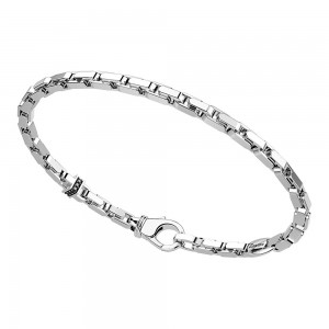 silver bracelet, black spinels