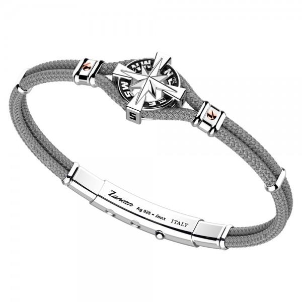 Silver and kevlar bracelet...
