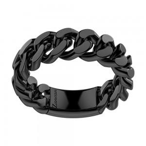 Black silver average grumette ring.