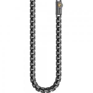 Black silver necklace.