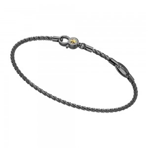Black silver chain bracelet.