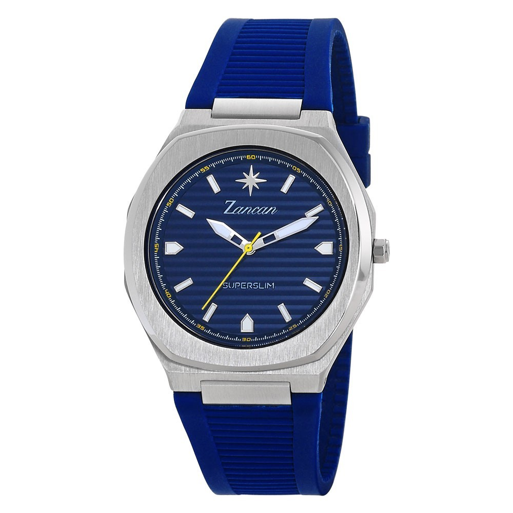 Superslim – Men's time only watch with blue dial.