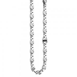 Collana marinara in argento e spinelli.