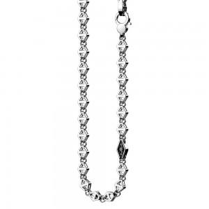 Collana in argento e spinelli neri.