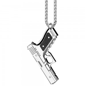 Glock 45 Silver Necklace