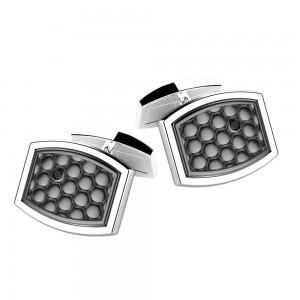 Silver cufflinks.