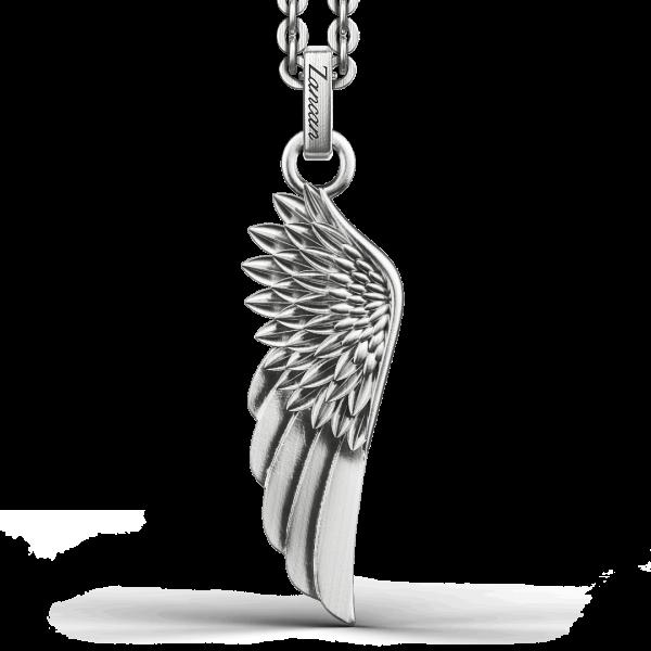 Collana Zancan in argento con pendente ad ala.