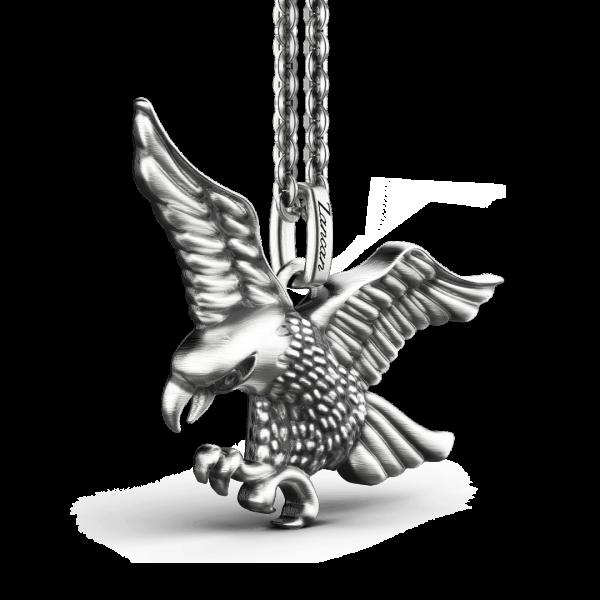 Collana Zancan in argento con aquila.