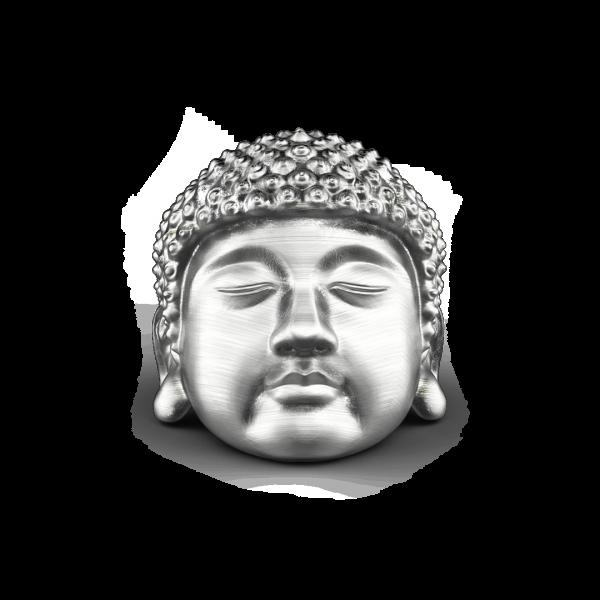 Anello Zancan Buddha in argento con finitura vintage.