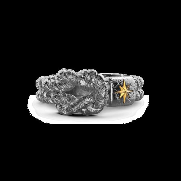 Anello Zancan in argento brunito con nodo.