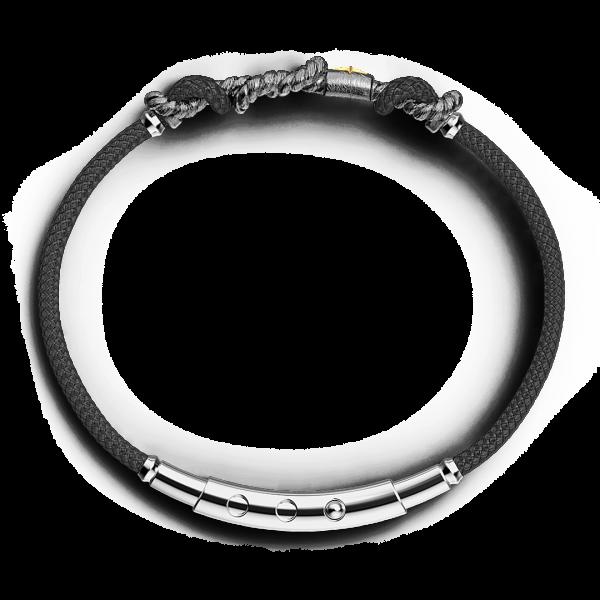 Bracciale Zancan in argento brunito con nodo.