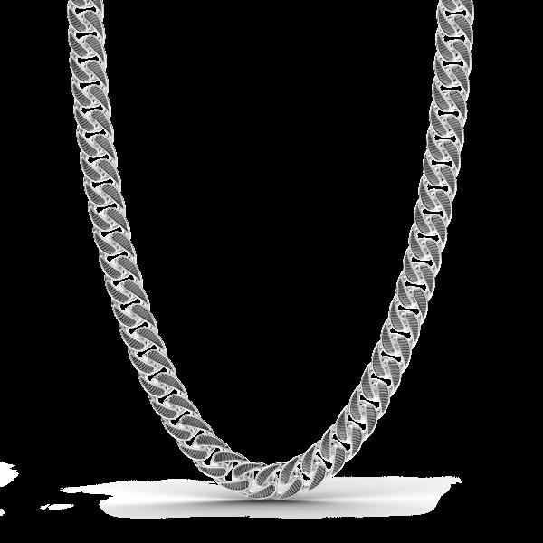 Collana a grumetta Zancan con finiture striate in colore nero.