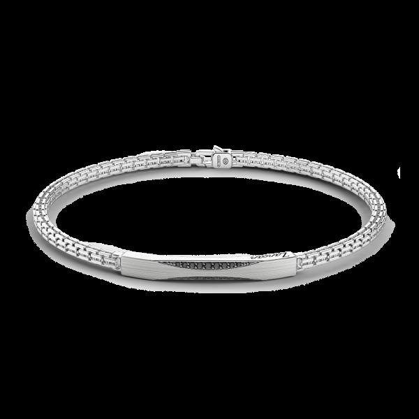 Bracciale Zancan in argento con pietre nere