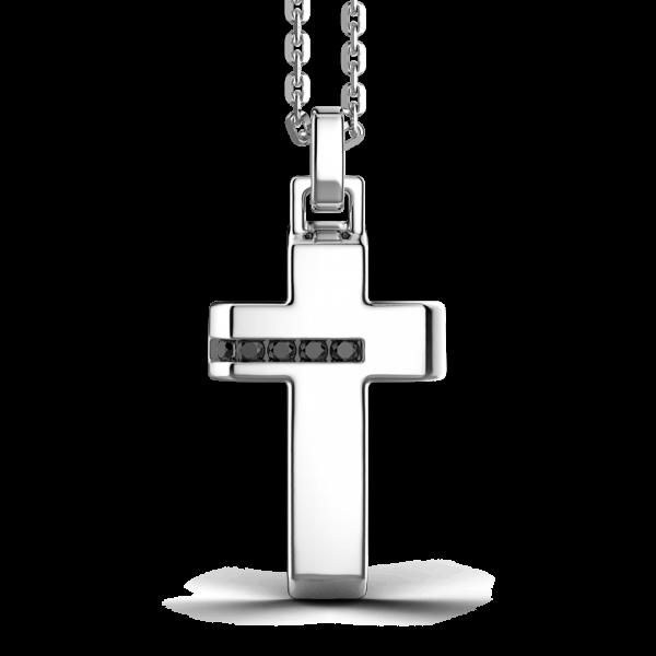 Collana Zancan in argento con pendente a croce.